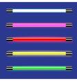 Neon lamps vector image
