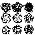 Ornamental Circle Symbols vector image