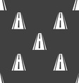 Road icon sign Seamless pattern on a gray vector image