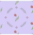 Seamless spring flower background pattern vector image