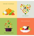 Vegetables Flat Set vector image