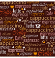 Coffee name seamless vector image