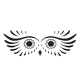 Black abstract silhouette of owl vector image vector image