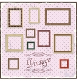 Vintage Photo frame template vector image vector image