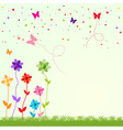 spring greeting card vector image