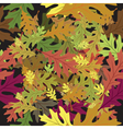 fallen leaves vector image