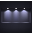 Dark niche for presentations vector image vector image