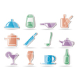 restaurant cafe food and drink icons vector image vector image
