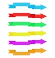Colorful ribbons with arrow vector image