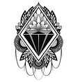 Diamond tattoo vector image