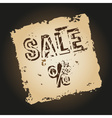 old retro tattered paper with sale symbol eps10 vector image