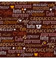 Coffee name seamless vector image