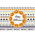 halloween set of holiday borders decorations vector image