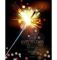 holiday background with lit sparklers vector image