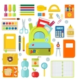 School supplies isolated on vector image
