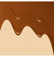 Chocolate background with wafes vector image vector image
