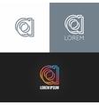 letter A logo alphabet design icon set background vector image