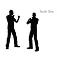 Punch Give pose on white background vector image