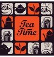 logo for tea time vector image vector image