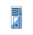 Isolated pc tower vector image