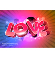 Love Valentine Day vector image