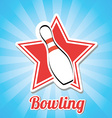 bowling design vector image