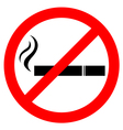 Prohibiting smoking sign vector image