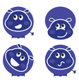 cute wild hippo set vector image