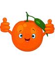 cartoon orange character vector image vector image