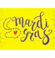 Carnival Mardi Gras Brush Pen Sign Mardi Gras vector image