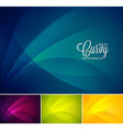 Curvy abstract background vector image