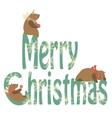 Bears celebrating Christmas vector image