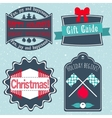Christmas badges labels stickers in retro style vector image
