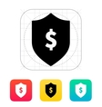Financial security shield with dollar sign icon vector image