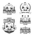 Set of vintage boxing emblems vector image