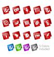 Social Media Stickers vector image