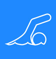 swimming sport figure outline symbol graphic vector image