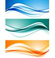 abstract elegant dynamic wavy lines set vector image