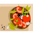 tomato background vector image
