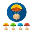 flat parachutes icons set vector image vector image
