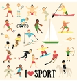 Pattern with sportsmen vector image
