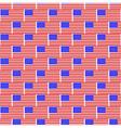 USA flag pattern vector image vector image