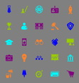 SME color icons on gray background vector image