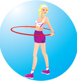 Beautiful blond girl with hoop vector image