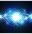 Realistic lightning bolt on blue background vector image