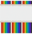 color pencils isolated on white vector image