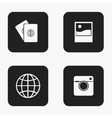 modern travel icons set vector image
