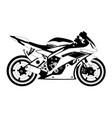 motorcycle sport logo vector image