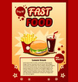 poster ad fast food advertising billboard vector image