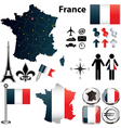 Map of France with regions vector image vector image